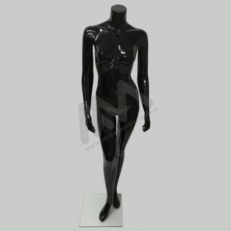 Female Mannequin with black head.