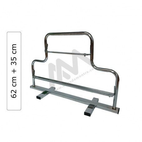 62x35cm chrome double support roller