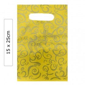 Yellow Fantasy 15x25 plastic bags - Pack of 100 units.