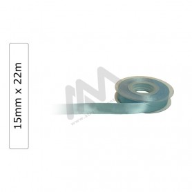 Blue satin wrapping tape 15 mm x22m