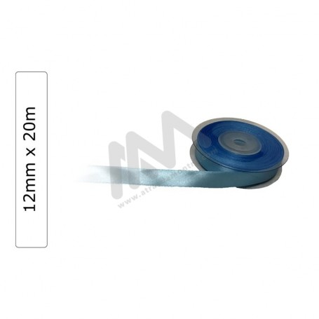Blue satin wrapping tape 12 mm x20m