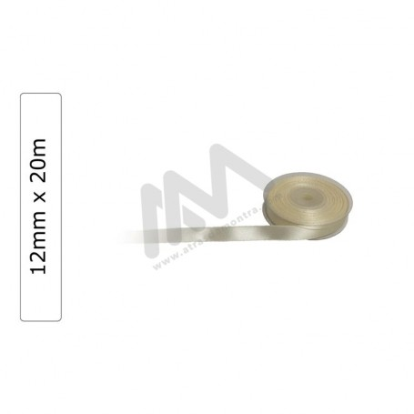 Beige satin wrapping tape 12 mm x20m
