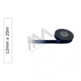 Dark Blue satin wrapping tape 12 mm x20m
