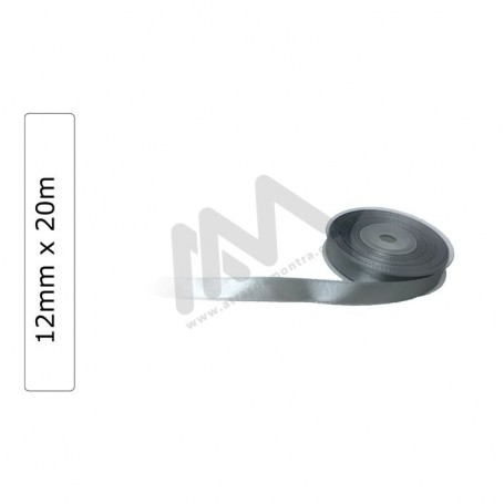Silver satin wrapping tape 12 mm x20m
