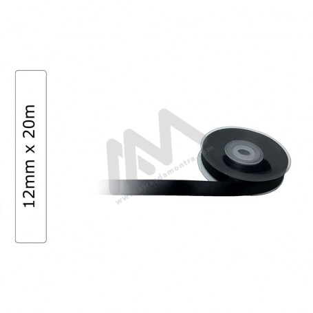 Black satin wrapping tape 12 mm x20m