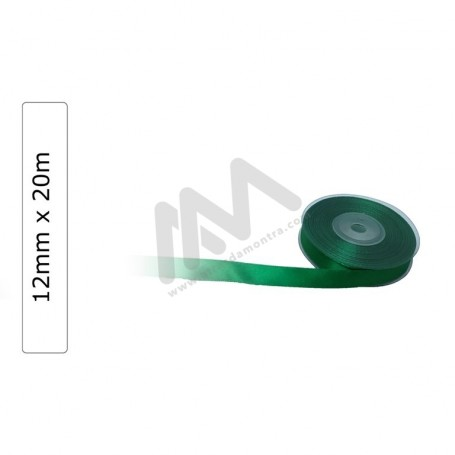 Green satin wrapping tape 12 mm x20m