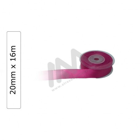 Pink satin wrapping tape 20 mm x16m