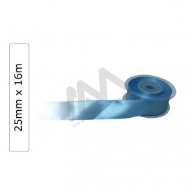 Blue satin wrapping tape 25 mm x16m