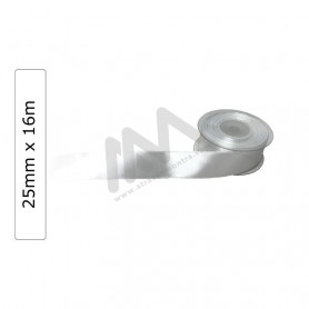 White satin wrapping tape 25 mm x16m