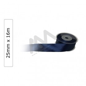 Dark Blue satin wrapping tape 25 mm x16m