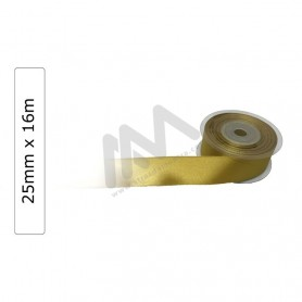 Gold satin wrapping tape 25 mm x16m
