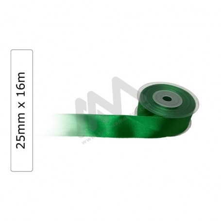 Green satin wrapping tape 25 mm x16m