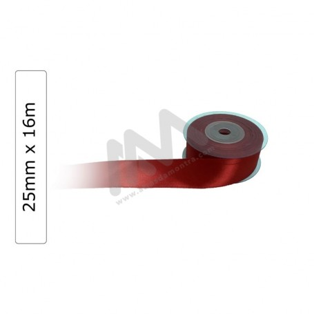 Red satin wrapping tape 25 mm x16m