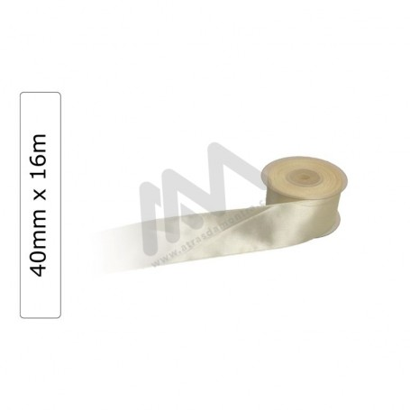Beige satin wrapping tape 40 mm x16m