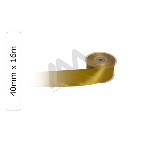 Gold satin wrapping tape 40 mm x16m