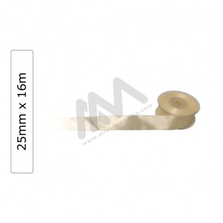 Beige satin wrapping tape 25 mm x16m