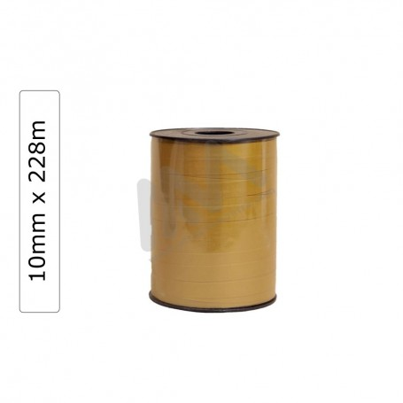 Gold Glossy wrapping tape 10mm x 228m