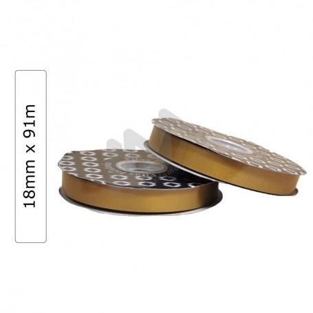 Gold Glossy wrapping tape 18mm x 91m
