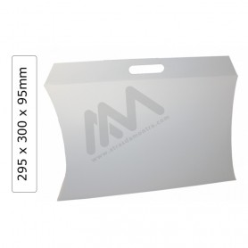 White Gift boxes in Cardboard 295x95x300mm - Pack 25 units