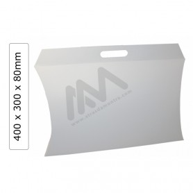 White Gift boxes in Cardboard 400x80x300mm - Pack 25 units