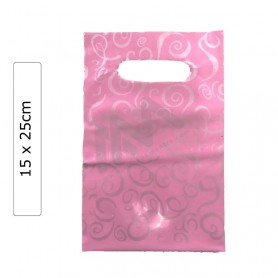 Light Pink Fantasy 15x25 plastic bags - Pack of 100 units.
