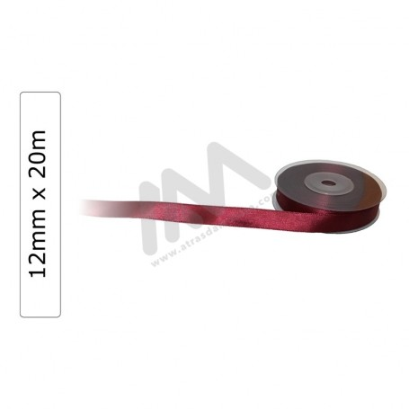 Bordeaux satin wrapping tape 12 mm x 20m