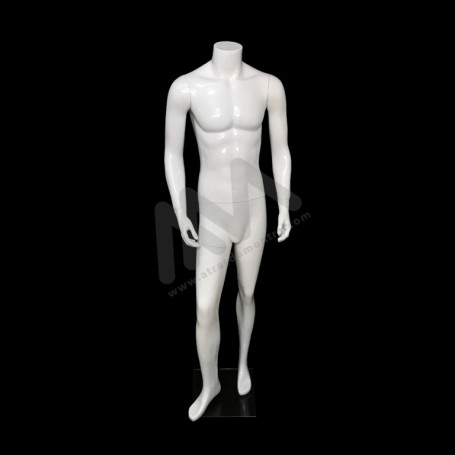 Men Mannequin white headless