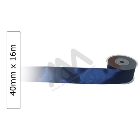 Blue satin wrapping tape 40 mm x 16m