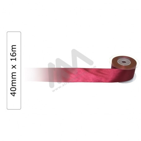 Dark Red satin wrapping tape 40 mm x 16m