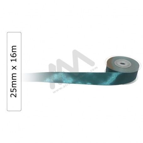 Dark Green satin wrapping tape 25 mm x 16m