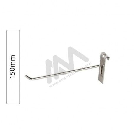 Chromed hook for Grid Wall Panel 150mm