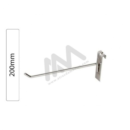 Chromed hook for Grid Wall Panel 200mm