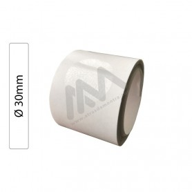 Roll with 200 labels transparent Ø 30mm