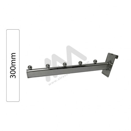 Chromed Support  for 5 balls inclined hangers 300mm