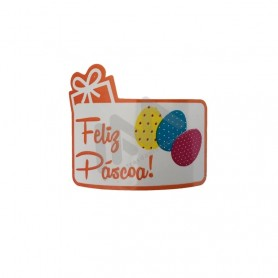 """Roll with 200 wrapping labels """"Feliz Páscoa"""""""