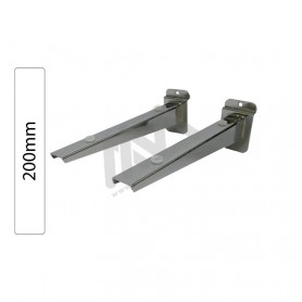 Slatwall Chromed shelf support 200mm
