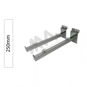 Slatwall Chromed shelf support 250mm