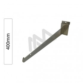 Slatwall Chromed bracket support 400mm
