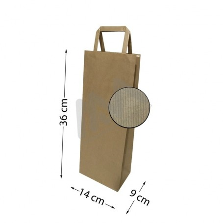 Brown Kraft paper wine bags 14x36x9