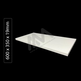 white Shelves Particleboard wood 600x350x19mm