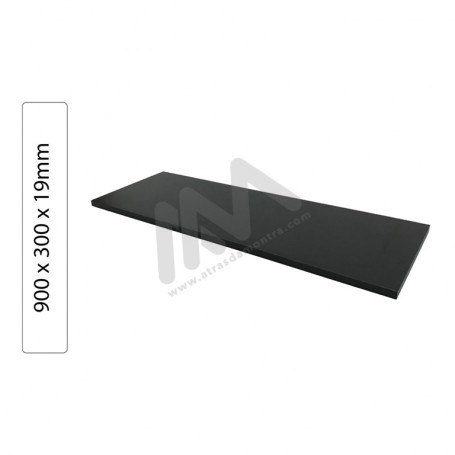 Black Shelves Particleboard wood 900x300x19mm