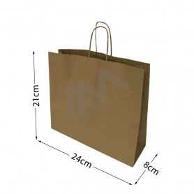 Brown Kraft paper bags 24x21x8