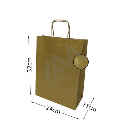 Kraft Gold Twisted Handle paper bags 24x32x11
