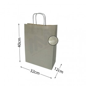 Kraft Silver Twisted Handle paper bags 32x40x12