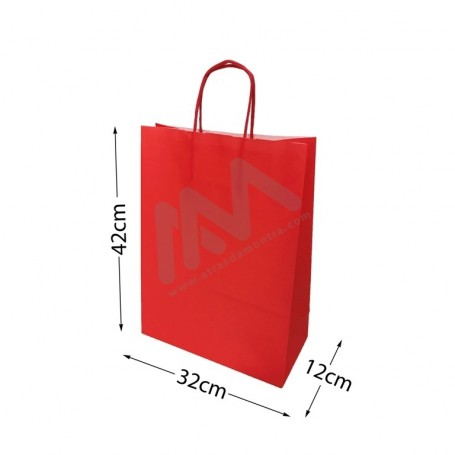 Red Paper Bags 32x42x12