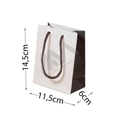 White Rope Handle Paper Bag 11,5x14,5x6 - 12 units