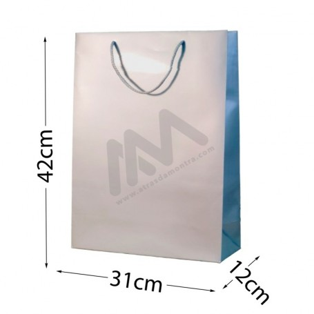 SIlver Rope Handle Paper Bag 210 g/m² 31x42x12- 144 UN