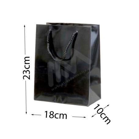 Black Rope Handle Paper Bag 210 g/m² 18x23x10 - 288 UN