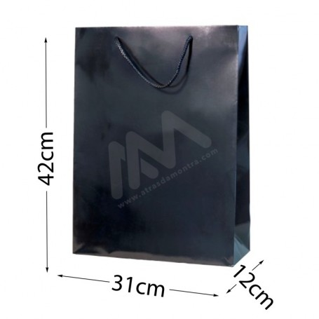 Black Rope Handle Paper Bag 210 g/m² 31x42x12- 144 UN