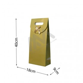 Gold Punched handle Paper Bag 210 g/m² 18x40x9 - 144